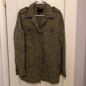 Banana Republic Military Style jacket green sz M